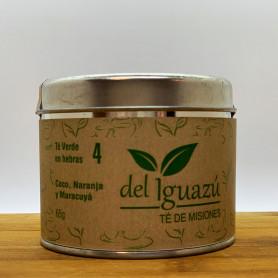 Té verde en hebras saborizado coco, naranja y maracuyá - Del Iguazú Infusiones