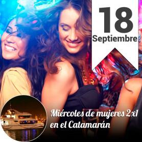 Mujeres 2x1 en el catamarán - Rodizio de pizzas - Miércoles 18 de septiembre
