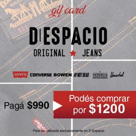 GIFT CARD D- ESPACIO- PAGAS $990 Y COMPRAS POR $1200