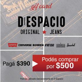 GIFT CARD D- ESPACIO- PAGAS $390 Y COMPRAS POR $500