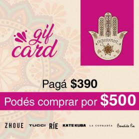 GIFT CARD AGUAMIA - PAGAS $390 Y COMPRAS POR $500