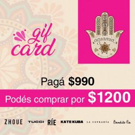 GIFT CARD AGUAMIA -  PAGAS $990 Y COMPRAS POR $1200