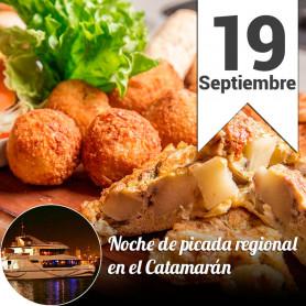 Noche de Picada Regional en el catamarán - Jueves 19 de septiembre