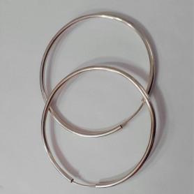 Aros argollas grandes de plata 925 liviano