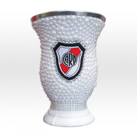 Mate grande decorado - River