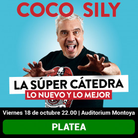 Coco Sily en Posadas - La súper cátedra, lo nuevo y lo mejor - platea