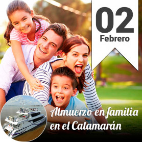 Almuerzo Familiar en el Catamarán - Domingo 2 febrero 30% Off