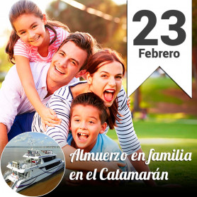 Almuerzo familiar en el Catamarán - Domingo 23 febrero 30% off