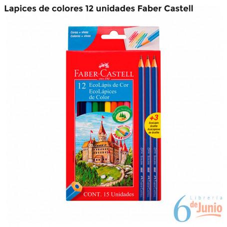 Lapices De Color Faber Castell X12 Colores +3 Lápices Gratis