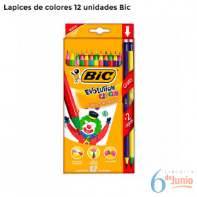 Lapices Bic Evolution X 12 Colores + 4 Lápiz Grafito