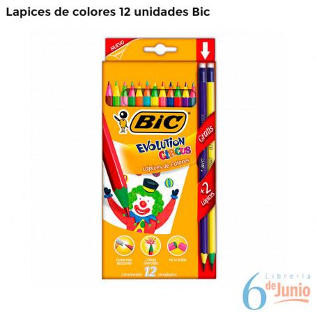 Lapices Bic Evolution X 12 Colores