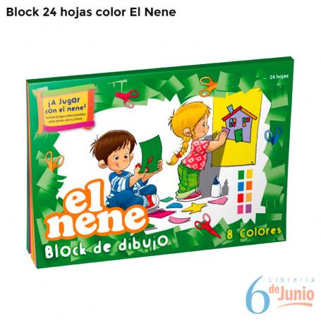 """Block Color """"el nene"""" por 24 hojas"""