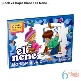 """Block Blanco """"el nene"""" x 24 hojas"""