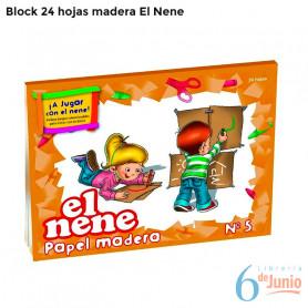 "Block Madera ""el nene"" x 20 hojas"