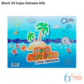 """Block fantasía """"alfa"""" x 20 hojas"""