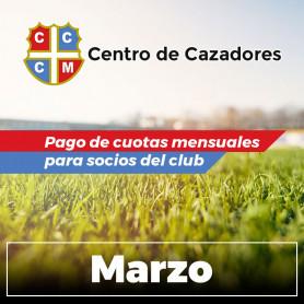 A - Pago de cuotas - Club Centro de Cazadores de Misiones - 03/Marzo