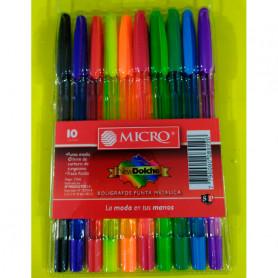 Bolígrafos Micro Dolche Simball x 10 unidades