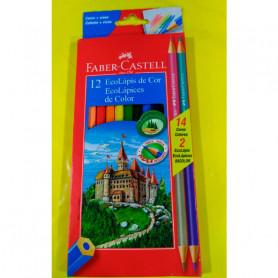 Ecolápices largos Faber Castell x 12 unidades