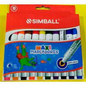 Maxi Marcadores Simball x 10 unidades