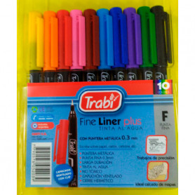 Microfibras Trabi Fine Liner Plus x 10 unidades
