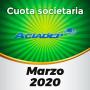 ACIADEP- Cuota de marzo 2020