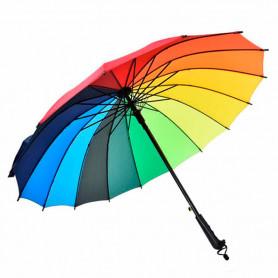 Paraguas multicolor arcoiris