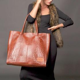 Cartera de Cuero Crocco- Shopping Bag
