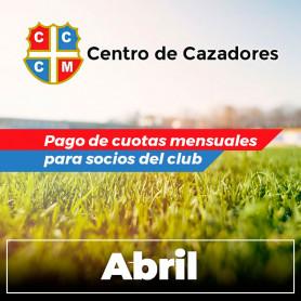 A - Pago de cuotas - Club Centro de Cazadores de Misiones - 04/Abril