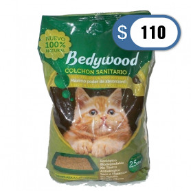 Piedritas sanitarias Bedywood 2 kilos