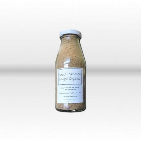 Azúcar Mascabo en pote de vidrio   X 250gs