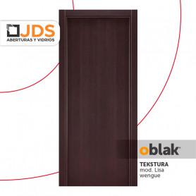 Puerta Oblak Interior de abrir Tekstura L color Wengue 80 Izquierda MM15