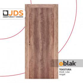 Puerta Oblak Interior de abrir Tekstura L color nogal 80 Izquierda MM10