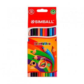 Lápices de colores Simball x 12 unidades
