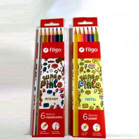 Combo - Lápices de colores Super Pinto - Filgo