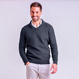 Sweater cuello cruzado - Hombre