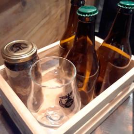 2 litros de cerveza + copa + cajita - Tiemann Beer