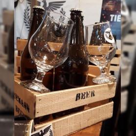 3 litros de cerveza + 2 copas + cajita - Tiemann Beer