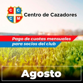 Centro Cazadores - Cuota 8/2020 - Agosto 2020