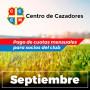Centro Cazadores - Cuota 9/2020 - Septiembre 2020