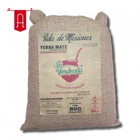 Yerba Mate Verdeada Premium En Bolsa Arpillera 500Gr