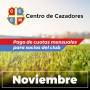 Centro Cazadores - Cuota 11/2020 - Noviembre 2020