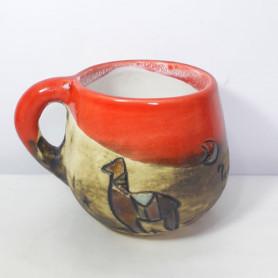 Tazón de cerámica pintadas a mano