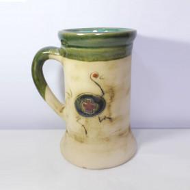 Chopp de cerámica pintado a mano