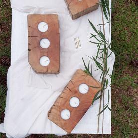 Mini fusta con velas artesanales - Estación trio