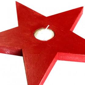 Portavela navideño estrella de Belén
