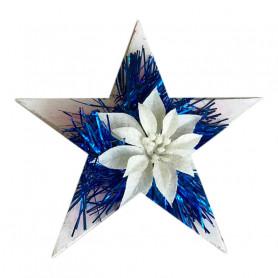 Centro de mesa navideño, estrella de madera