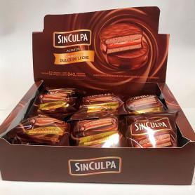 Alfajores Sin Culpa Chocolate Negro - Caja (12 Unidades)