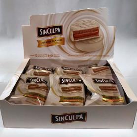 Alfajores Sin Culpa Chocolate blanco - Caja (12 Unidades)