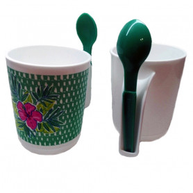Taza con cuchara - Tupperware