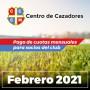 Centro Cazadores - Cuota 02/2021 - Febrero 2021